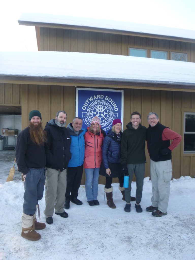 Chris and her VOBS dog sledding crew after their adventure
